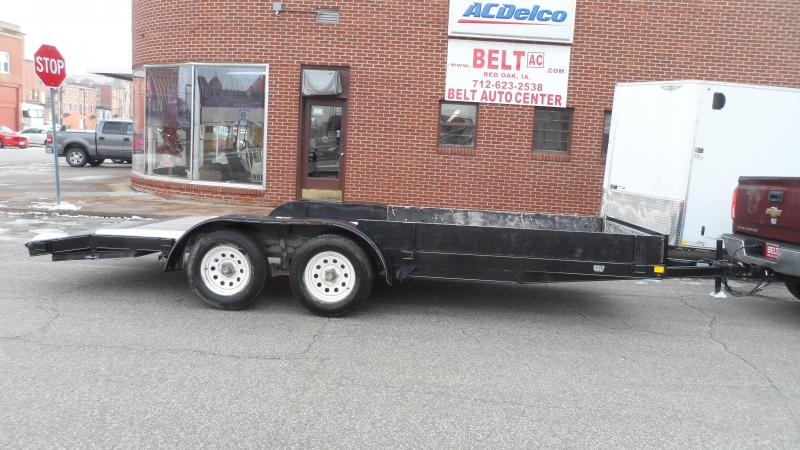 2014 H and H Trailer Car Hauler Equipment Trailer