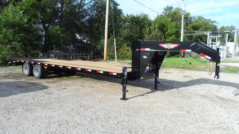 2019 H and H Trailer 25+5 19LB 24K GNLP DECKOVER SUPER DLX