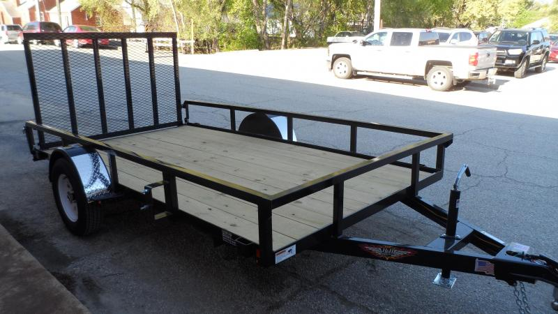2020 H and H Trailer 82X12 STEEL RAIL SIDE  3.5K