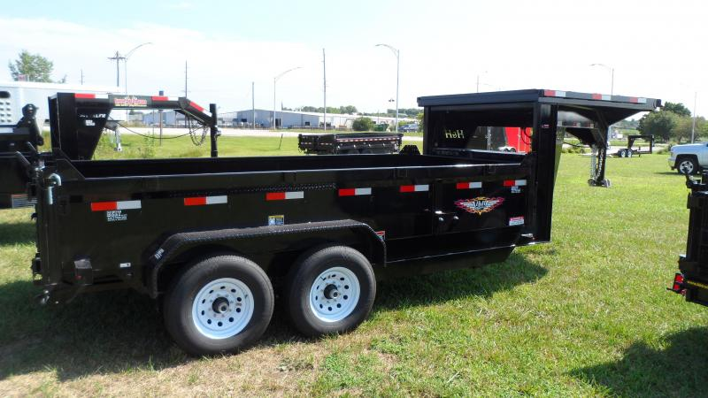 2019 H and H Trailer 83X14 DBW GN DUMP BOX 14K