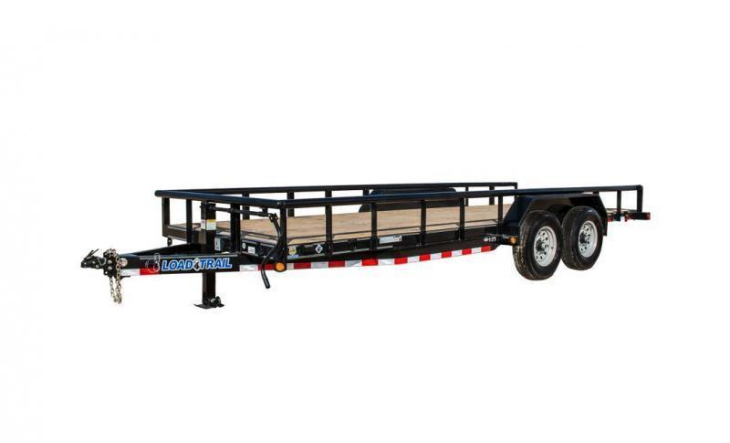 "2018 Load Trail CP14 - Carhauler 14000 Lb w/ 3"" x 5"" Angle Iron Frame and Pipe Top Rail"