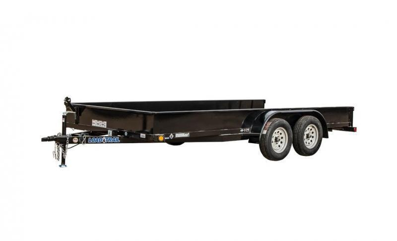 "2018 Load Trail US07 - Tandem Axle Utility 7000 Lb w/ 2"" x 3"" Angle Frame & Solid Sides"