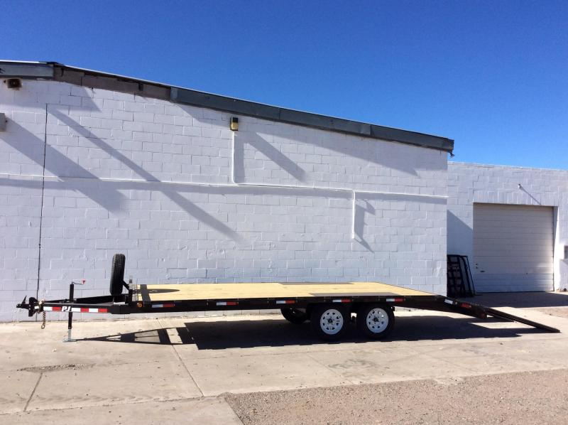 2018 PJ 20FT Trailers Light Duty Deckover Trailer