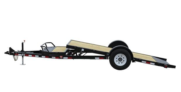 2018 PJ Trailers Single Axle HD Tilt (T1) Equipment Trailer