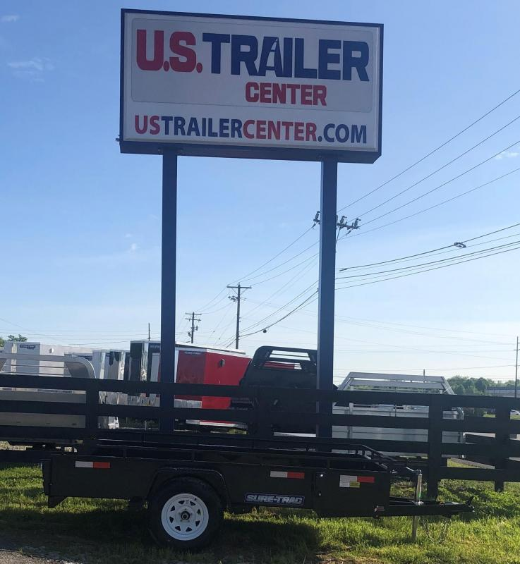 2019 Sure-Trac 6 x 10 Steel High Side  3k Idler UTILITY TRAILER LAWN LANDSCAPE TRAILER
