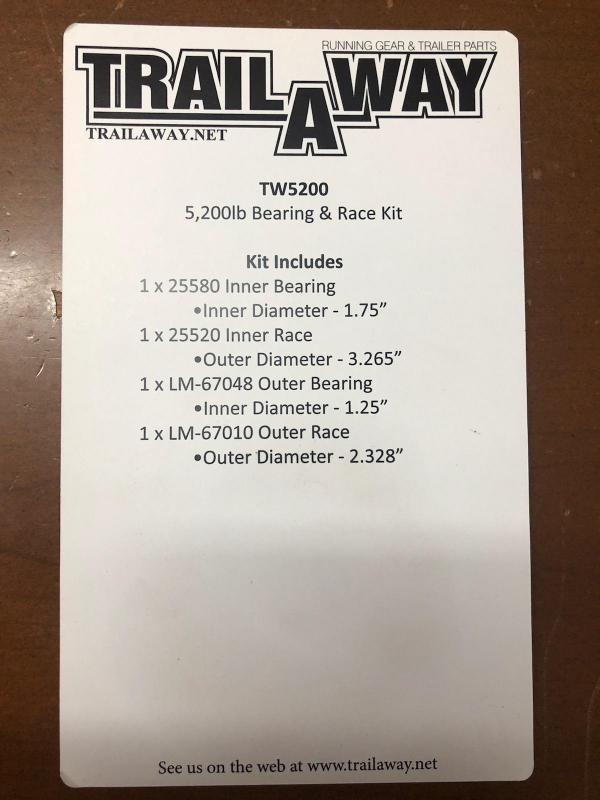 5200lb Bearing & Race Kit