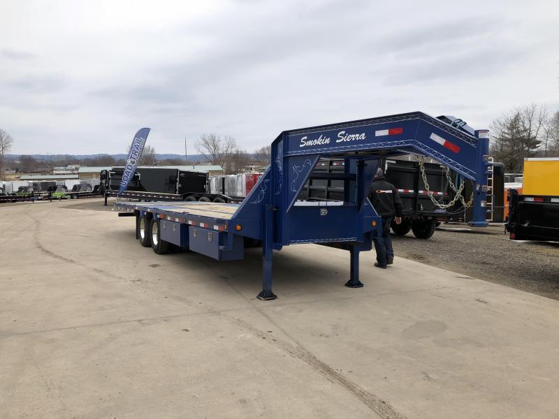 2016 Load Trail 102X26 Gooseneck Hydro Dove Equipment Trailer