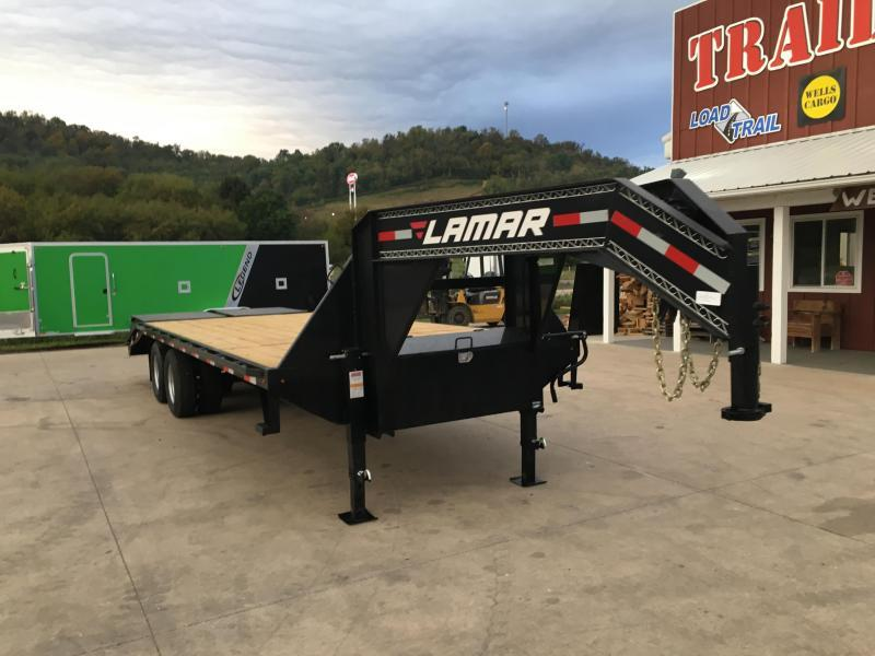 2018 Lamar Trailers 102X25 Gooseneck Deckover Equipment Trailer