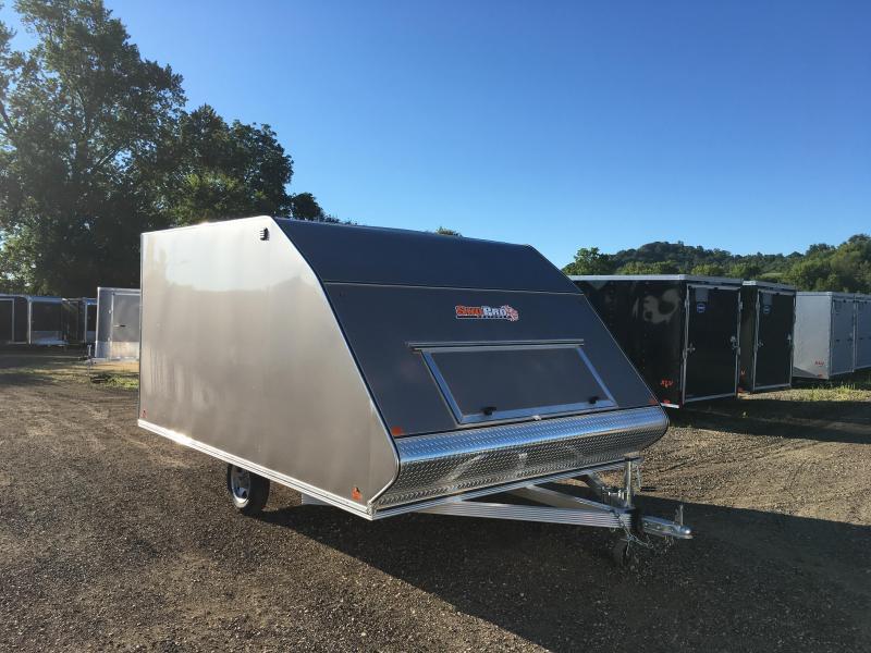 2018 Snopro 101X12 Hybrid Snowmobile Trailer