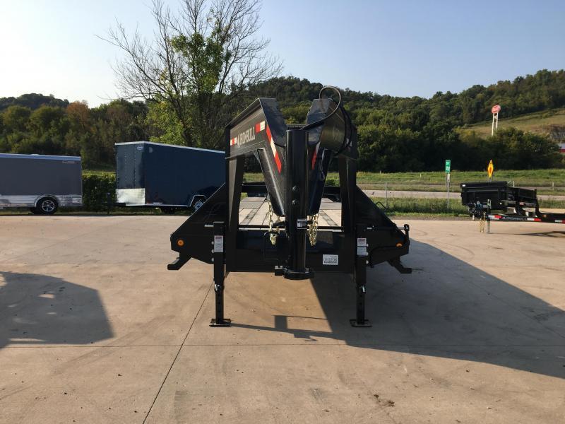 2017 Iron Bull 102X25 Gooseneck Deckover Equipment Trailer