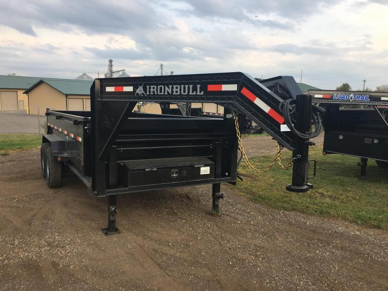 2018 Iron Bull 83X14 Gooseneck Dump Trailer