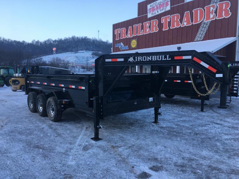 2018 Iron Bull 83X16 Gooseneck Dump Trailer