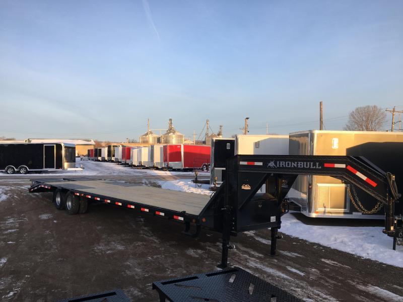 2018 Iron Bull 102X36 Gooseneck Deckover Equipment Trailer