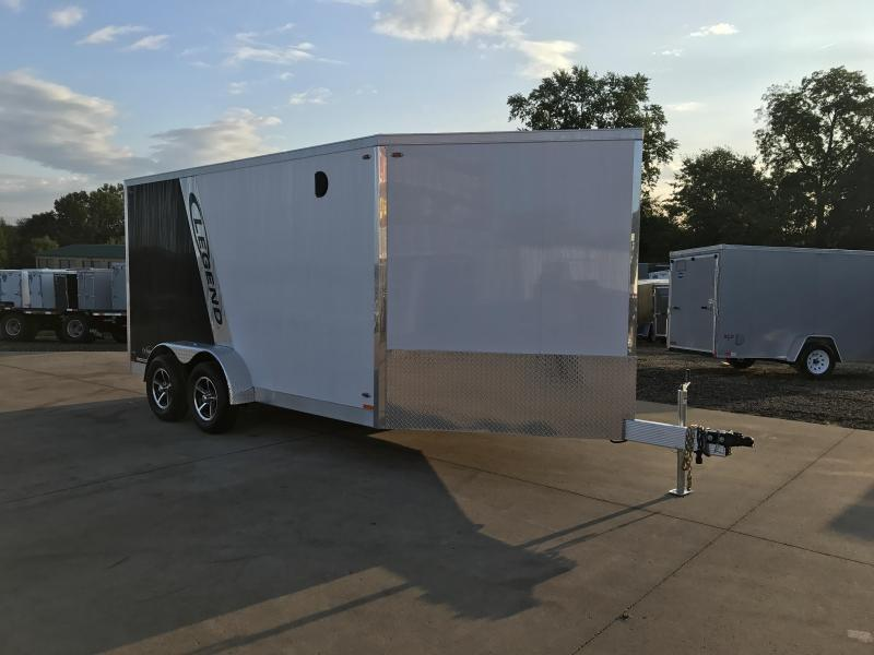 2018 Legend Manufacturing 7X19 Inline Snowmobile Trailer