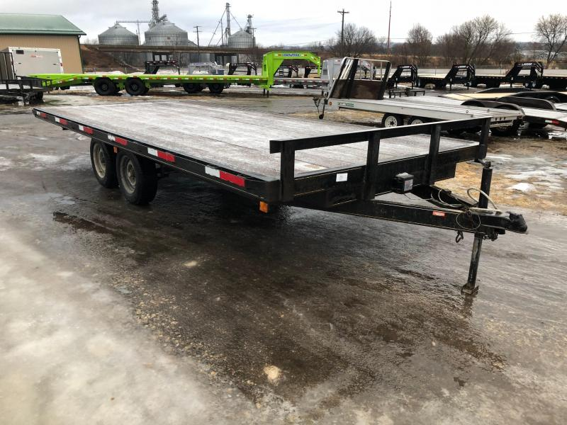 2001 Homemade 102X18 Deckover Equipment Trailer
