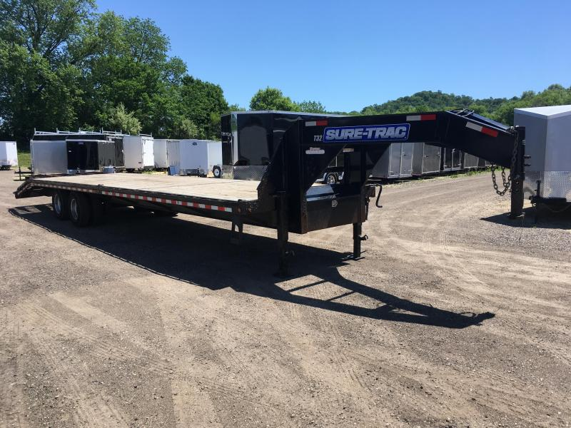 2014 Sure-Trac 102X35 Gooseneck Deckover Equipment Trailer