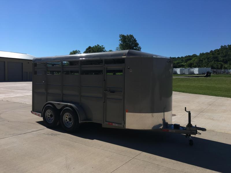 2017 Delta Manufacturing 6X16 Livestock Trailer