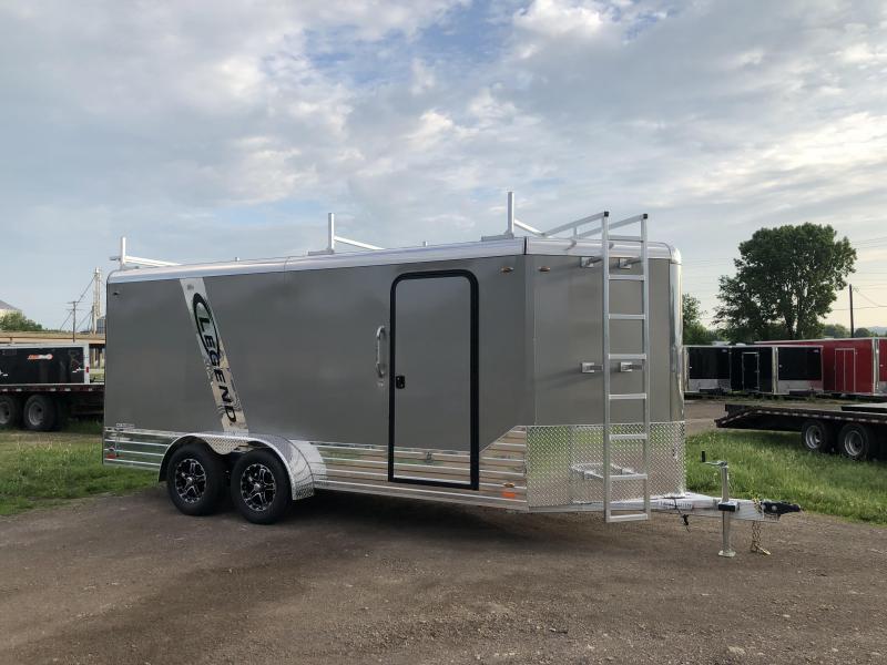 2018 Legend Manufacturing 7X16 Aluminum Enclosed Cargo Trailer