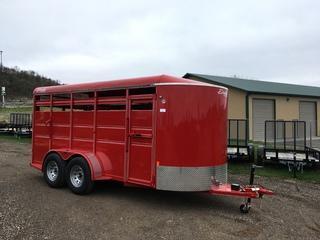 2017 Delta Manufacturing 6X16 Livestock 7000 lb Trailer