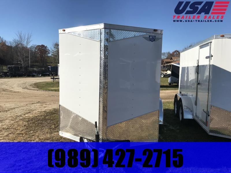 2019 MTI Trailers 6x12 white ramp Enclosed Cargo Trailer