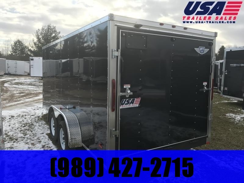 2019 MTI Trailers 7x16 Black Ramp Enclosed Cargo Trailer