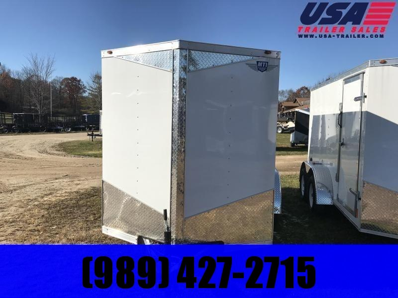 2019 MTI Trailers 6x12 white Enclosed Cargo Trailer