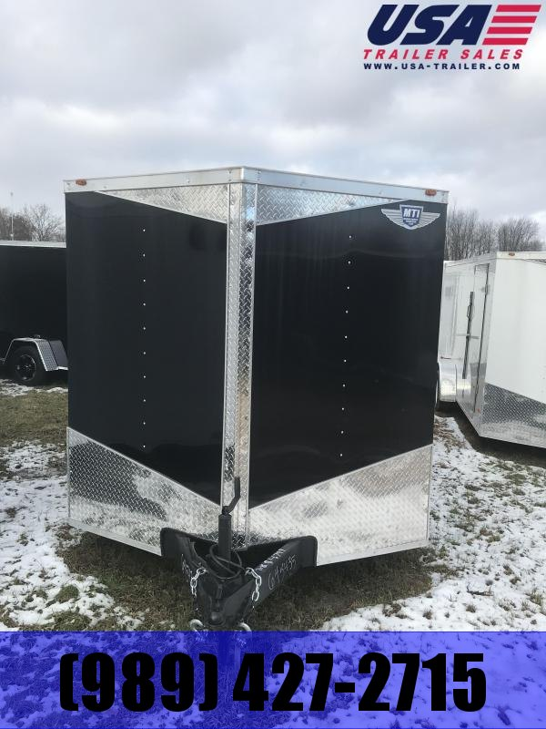 2019 MTI Trailers 7x16 Black Barn Enclosed Cargo Trailer