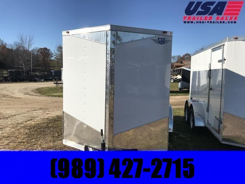 2020 MTI Trailers 6x10 white Enclosed Cargo Trailer