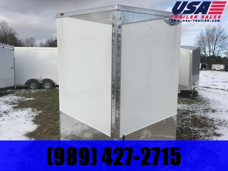 2019 MTI Trailers 7x14 White Ramp Enclosed Cargo Trailer