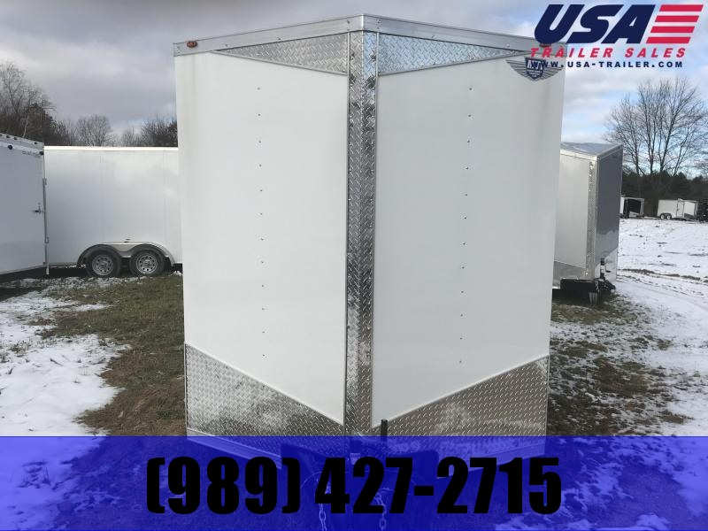 2019 MTI Trailers 7x16 White Ramp Enclosed Cargo Trailer