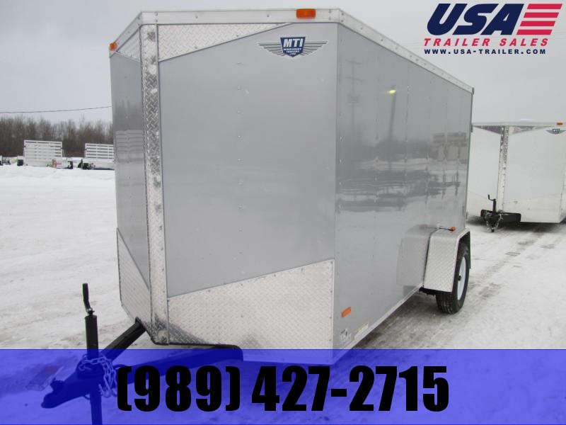 2019 MTI Trailers 6 X 12 Charcoal Ramp USA Enclosed Cargo Trailer