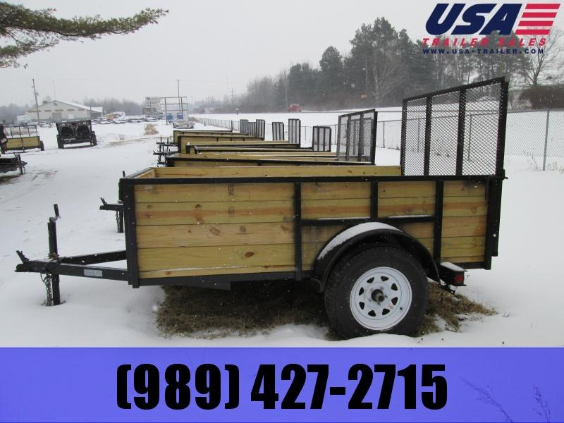 2018 Gold Star 5x8 Wood Side Tube Utility Trailer