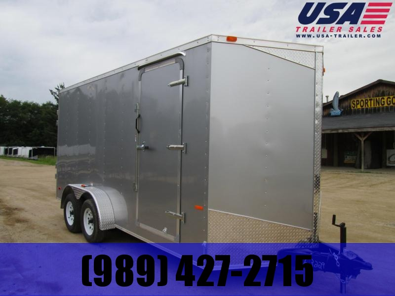 2019 MTI Trailers 7x14 Silver Ramp Enclosed Cargo Trailer