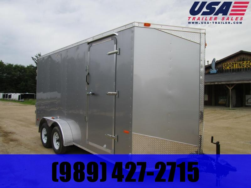 "2020 MTI Trailers 7 x 14 Ramp 12"" added height Enclosed Cargo Trailer"
