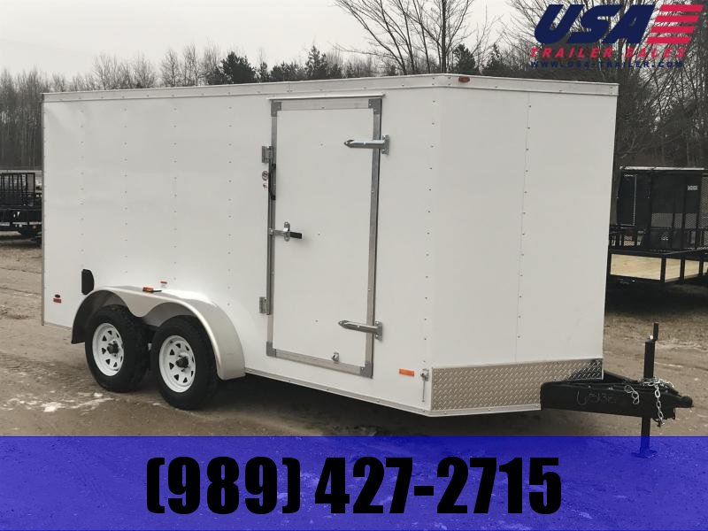 2019 MTI Trailers 7 x 14 White Ramp USA Enclosed Cargo Trailer