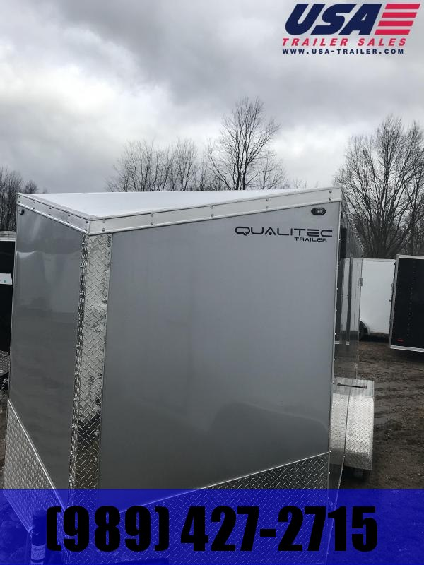 2019 Qualitec 7x14 Silver Barn Doors Enclosed Cargo Trailer