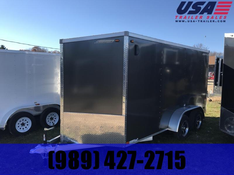 2018 MVM7 7x14 Charcoal Ramp Enclosed Cargo Trailer