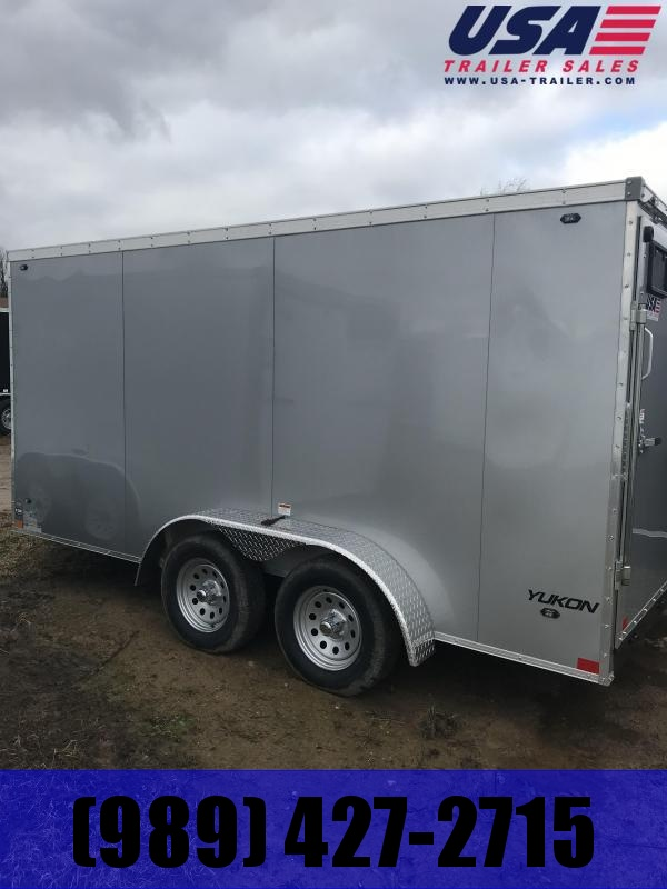 2019 Qualitec 7x14 ramp silver Enclosed Cargo Trailer