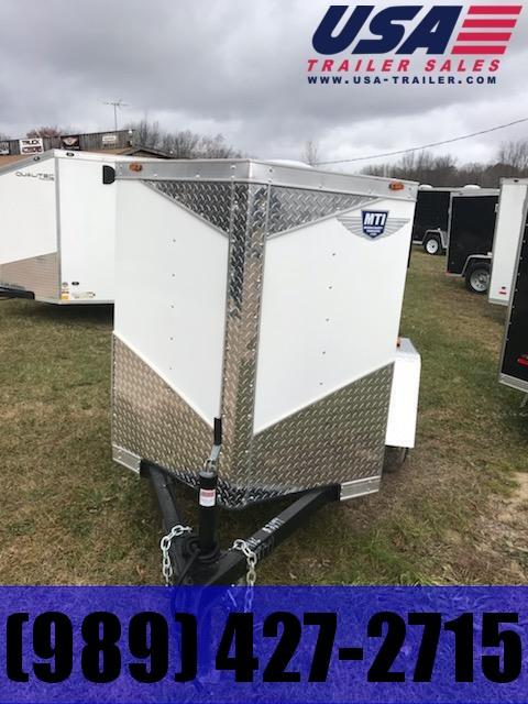 2019 MTI Trailers 4x6 white Enclosed Cargo Trailer