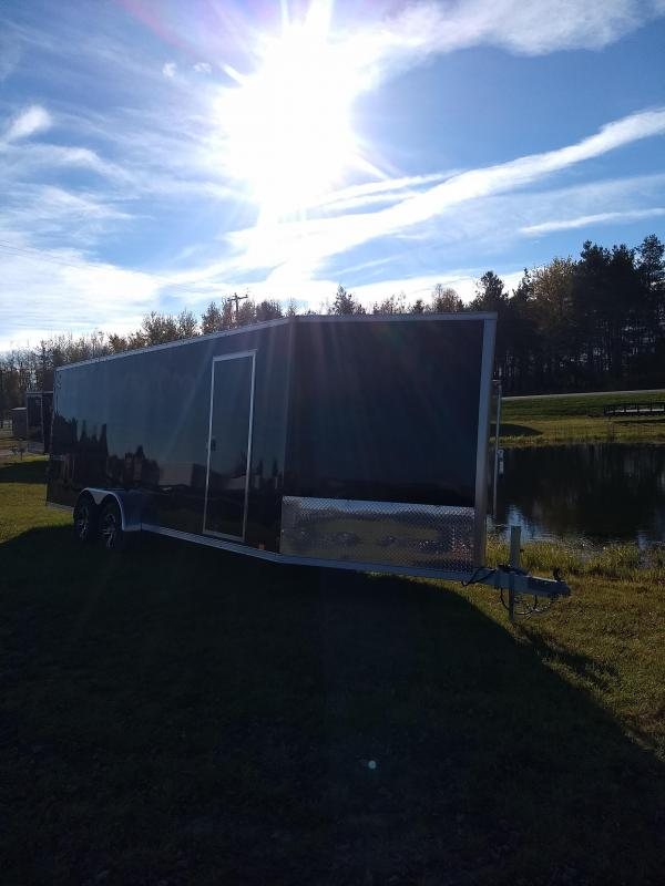 New Look 7X27 Enclosed 4 Place Snowmobile Trailer
