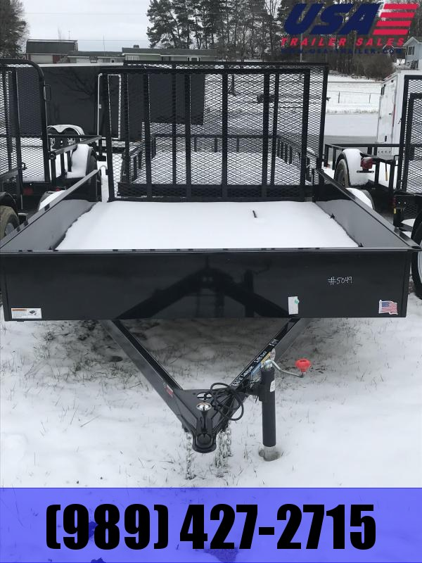 2018 H and H Trailer 82x10 Solid High Side Utility Trailer