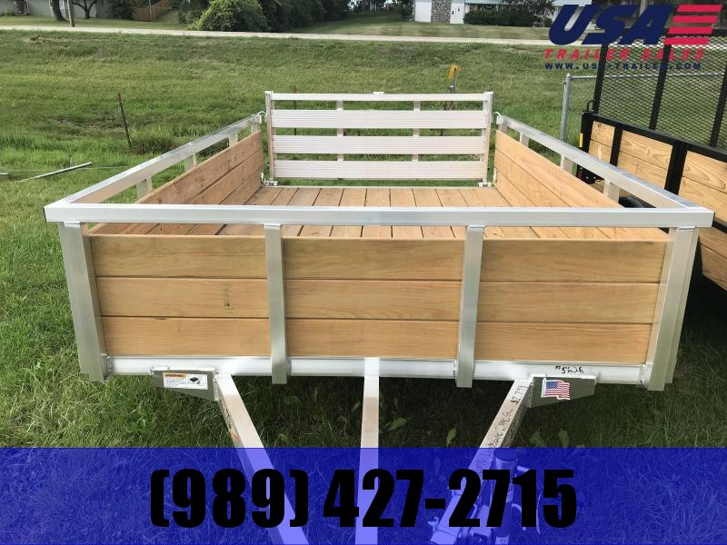 2019 H and H Trailer Aluminum 6x10 WOODSIDE Landscape