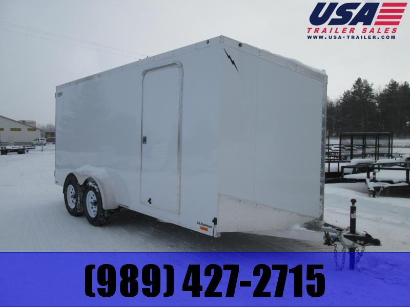 2019 Lightning Trailers 7x14 White Barn Enclosed Cargo Trailer