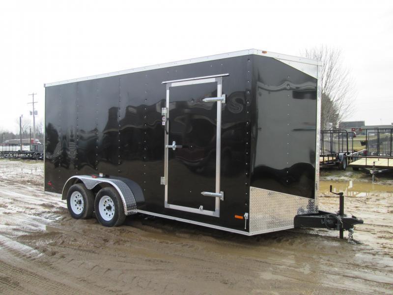 2020 MTI Trailers 7x14 Black Ramp USA Enclosed Cargo Trailer