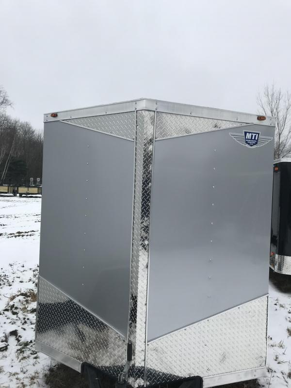 2019 MTI Trailers 7x12 Silver Ramp Enclosed Cargo Trailer