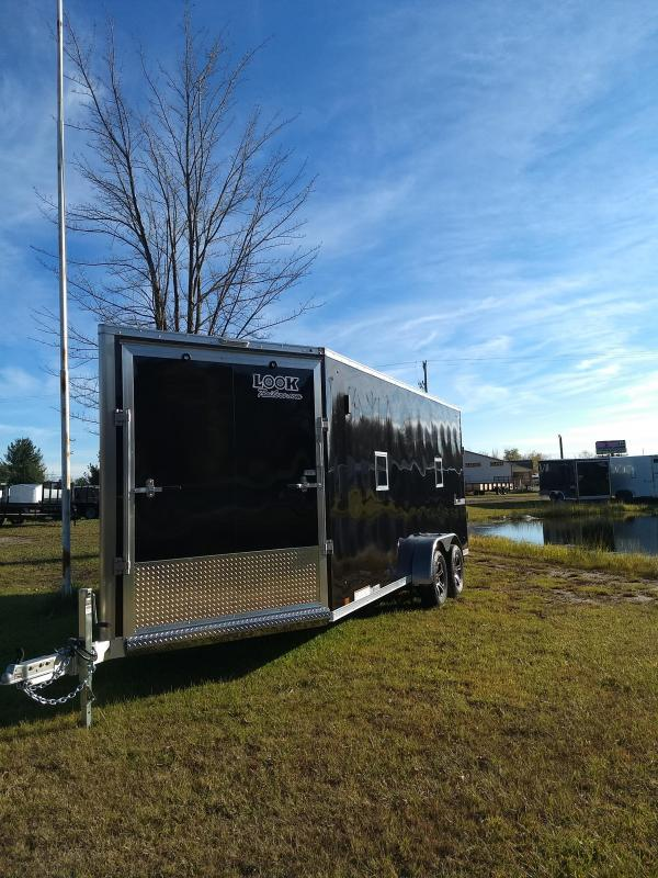 New 7X23 3 Place Aluminum Snomobile Trailer