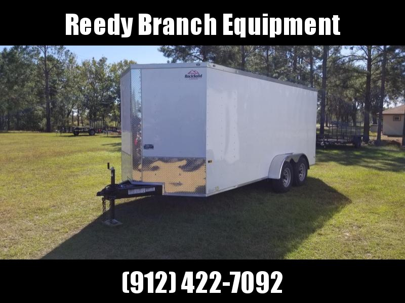 2018 ROCK SOLID CARGO (5200LB AXLES) (6.3 FT HEIGHT) 7X16TA2 Enclosed Cargo Trailer