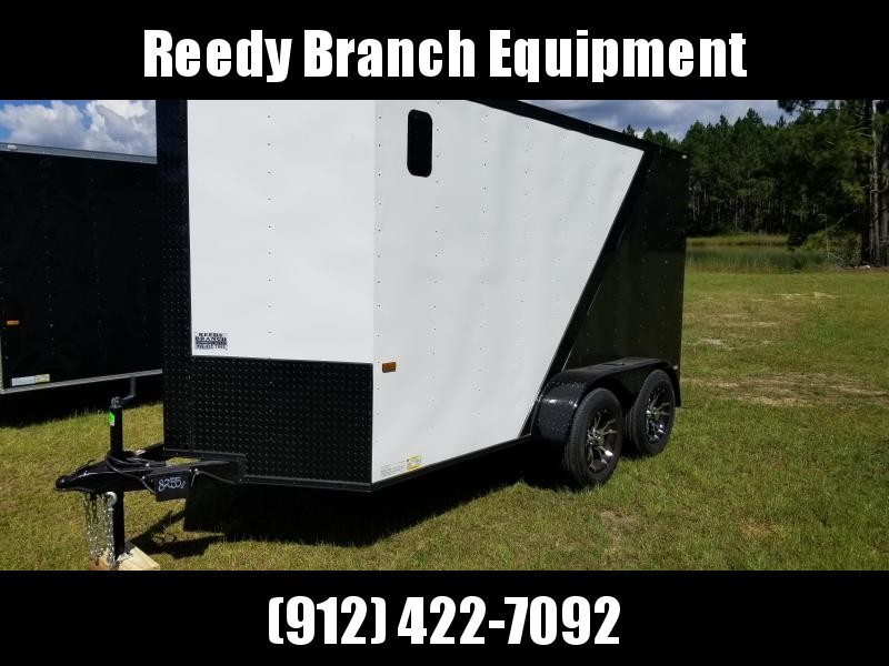 2019 ROCK SOLID CARGO (BLACKOUT EDITION)(WHITE/GRAY) 6X12TA Enclosed Cargo Trailer