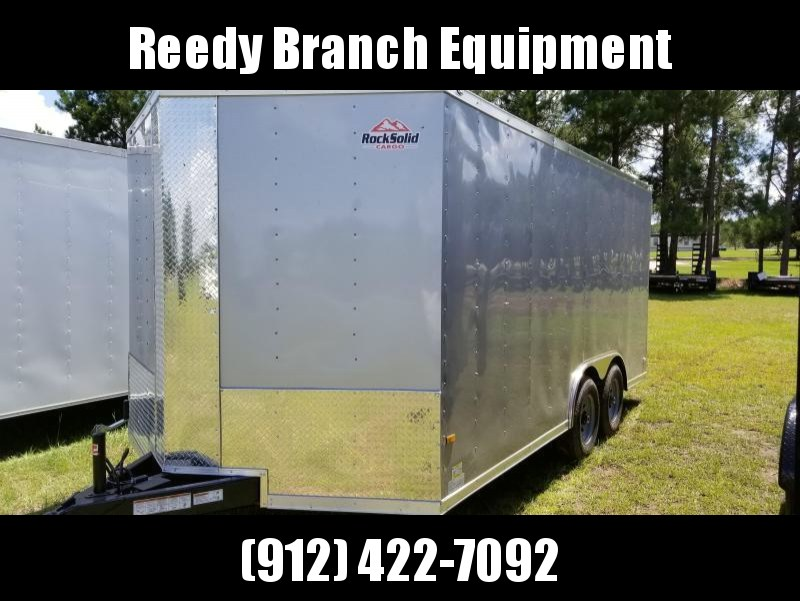 2018 ROCK SOLID CARGO TRAILER(5200AXLES) (SILVER FROST) 8.5x16  Enclosed CARGO TRAILER