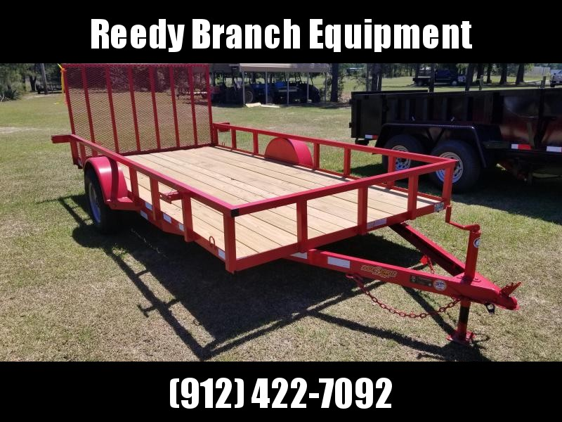"2019 (RED) 82""X 14"" Down 2 Earth UTILITY Trailer"